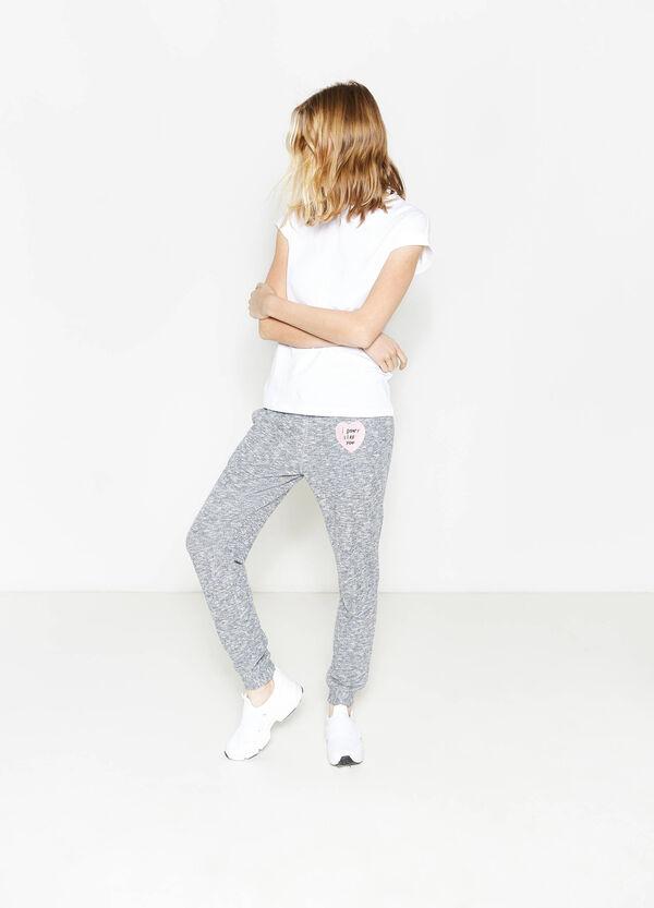 Pantaloni tuta con coulisse e patch | OVS
