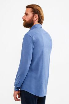 Camicia formale button down, Blu, hi-res