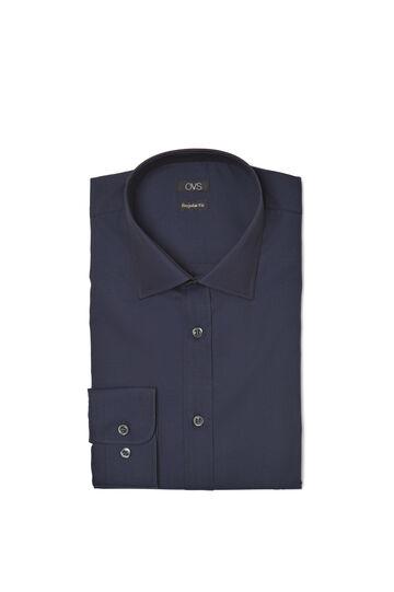 Regular-fit shirt in cotton twill, Blue, hi-res