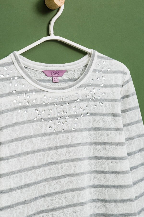 Openwork T-shirt with diamantés | OVS