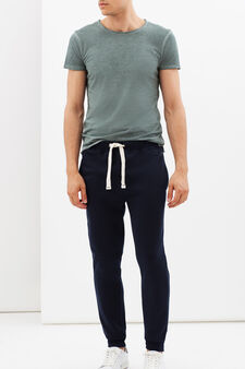 Joggers with drawstrings, Navy Blue, hi-res
