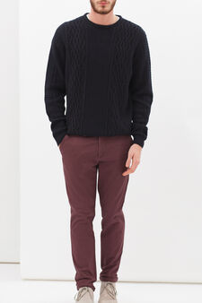 Slim fit stretch Chinos, Claret Red, hi-res