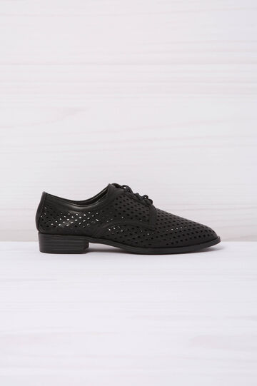 Openwork suede look brogues, Black, hi-res