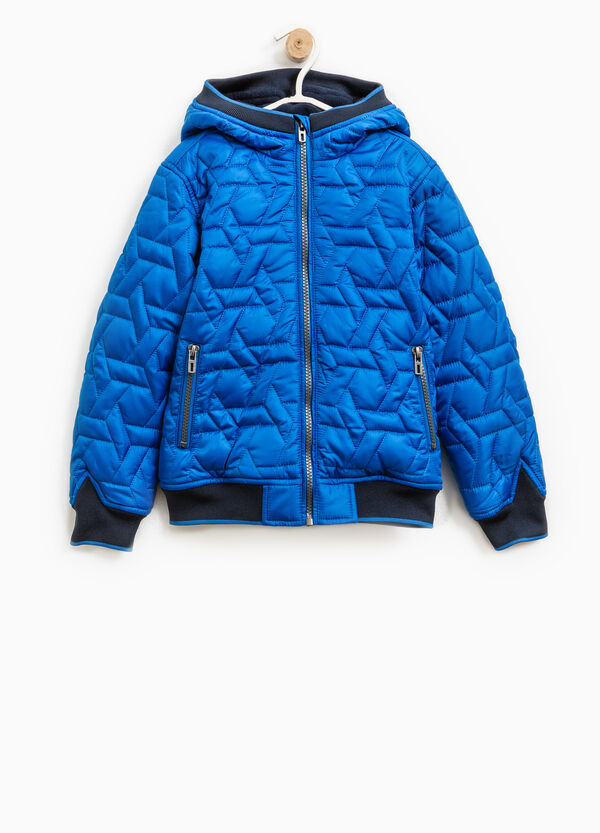 Down jacket with raised quilting and ribbing | OVS