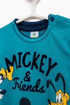 T-shirt with Mickey Mouse print, Teal Green, hi-res