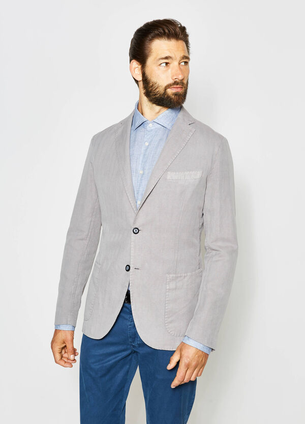 Rumford jacket in cotton and linen | OVS
