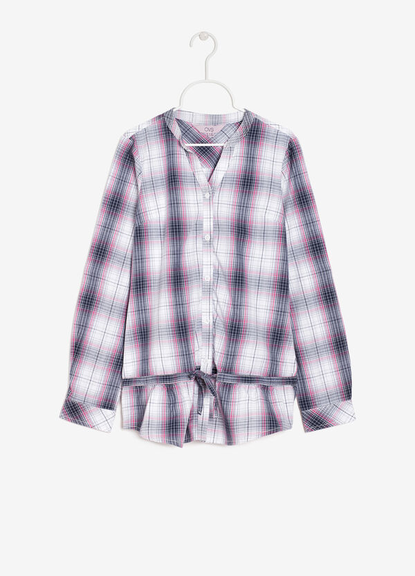 Checked shirt with flounce | OVS