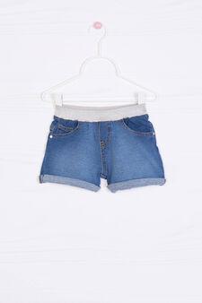 Stretch denim shorts, Medium Wash, hi-res