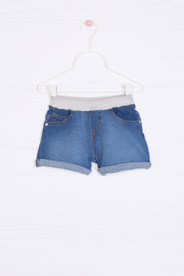 Stretch denim shorts | OVS