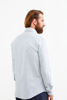 Camicia formale regular fit button down, Grigio, hi-res
