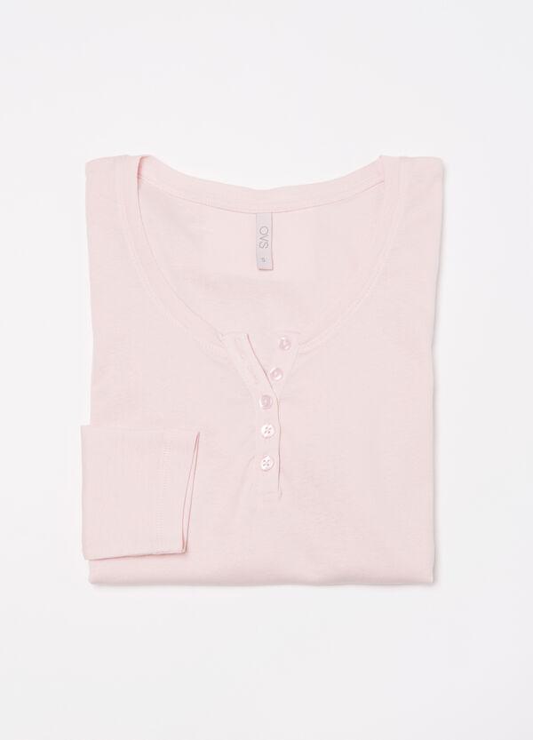 Pyjama top with button neck | OVS