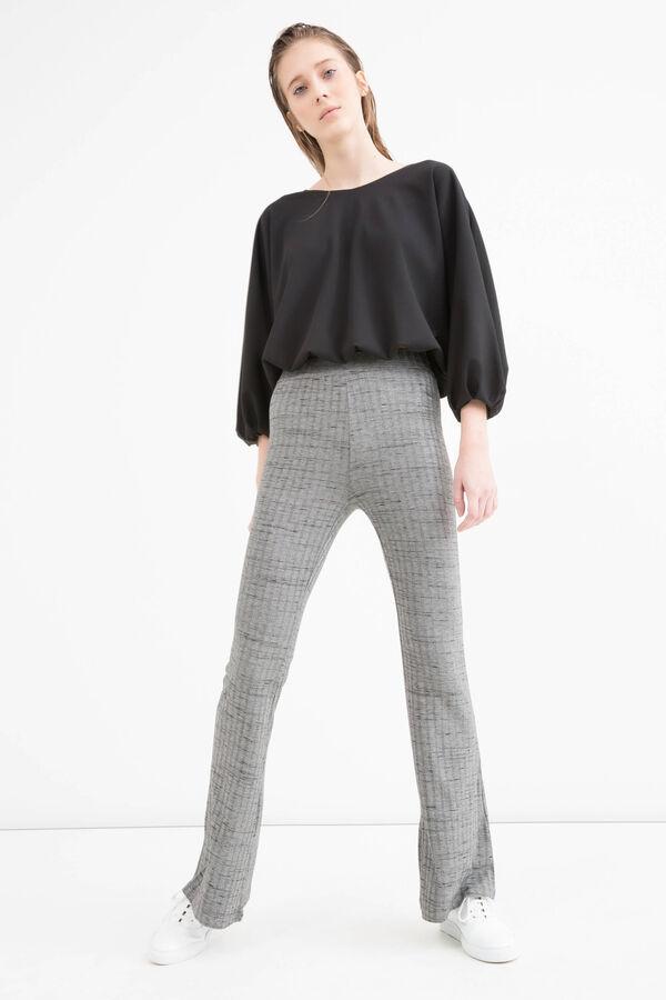 Pantaloni a zampa in misto viscosa | OVS