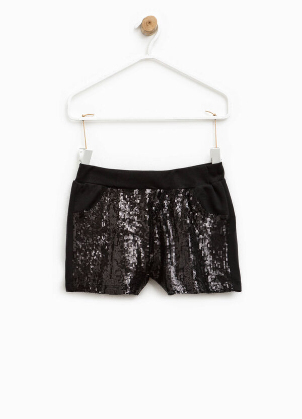 Viscose shorts with sequins | OVS