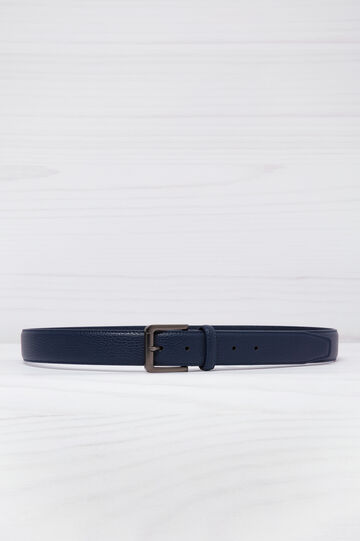 Hammered leather look belt