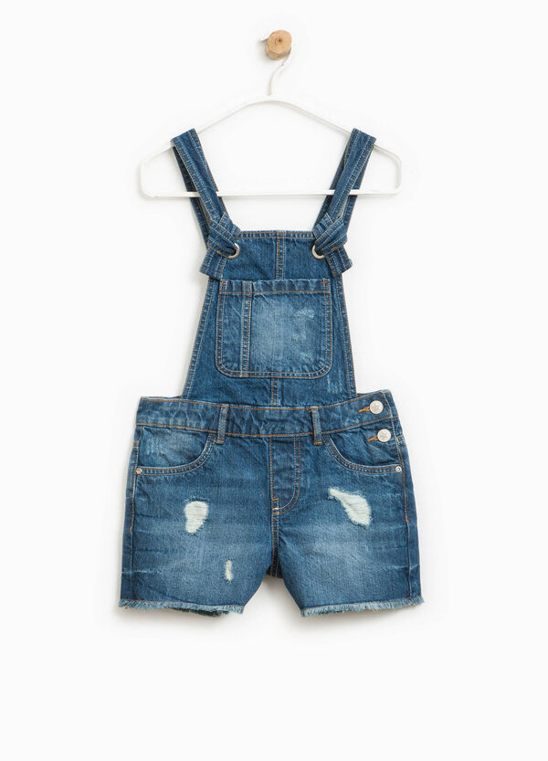 Worn-effect denim dungarees | OVS