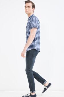 G&H check cotton shirt, Blue/Light Blue, hi-res