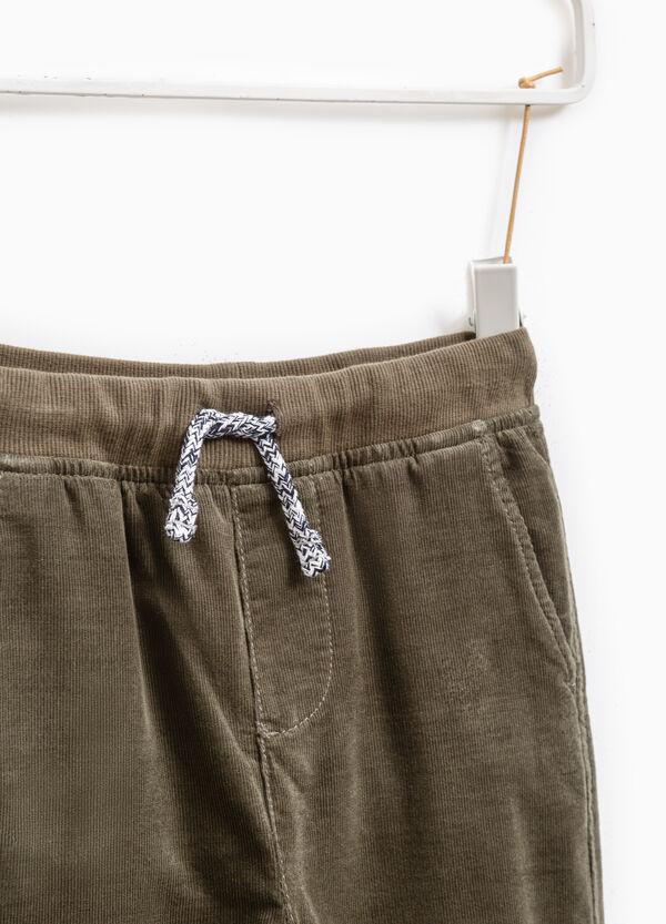 Pantaloni in costina puro cotone | OVS