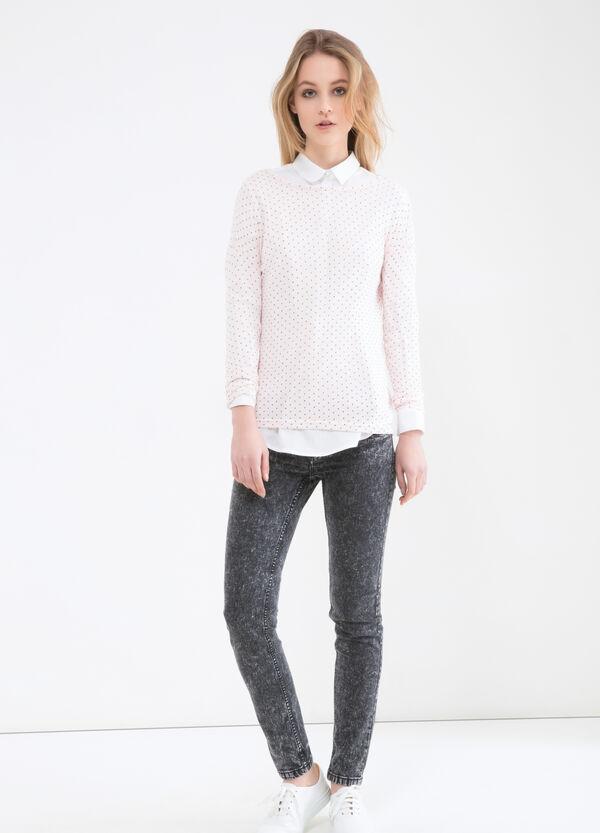 Printed sweatshirt in viscose blend | OVS