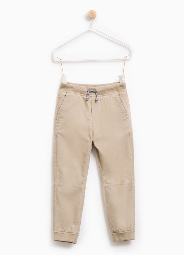 Ribbed trousers in 100% cotton | OVS