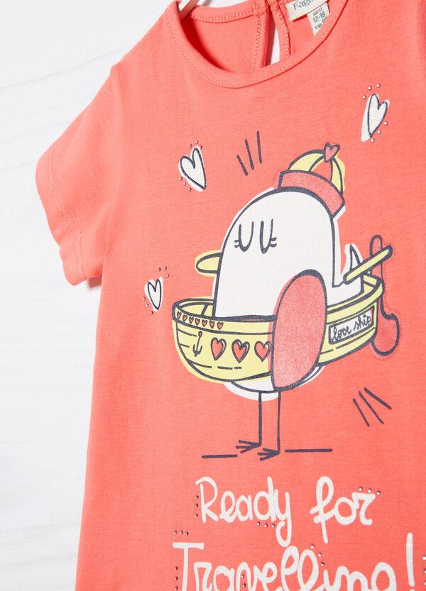 T-shirt stretch stampata | OVS