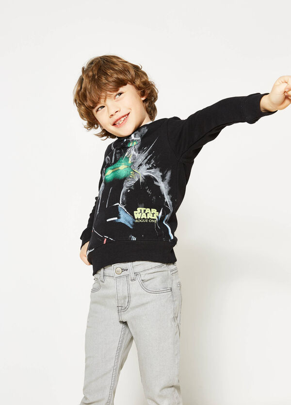 Star Wars maxi print cotton sweatshirt | OVS