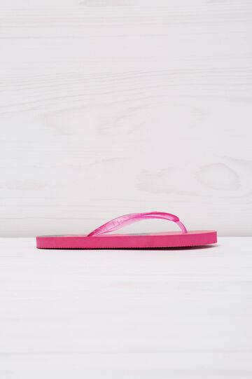 Printed thong sandals., Pink, hi-res