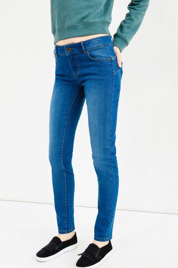Jeans skinny fit stretch effetto delavato, Lavaggio medio, hi-res