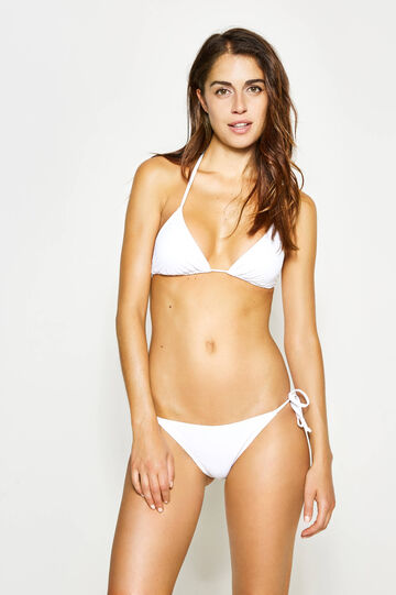 Solid colour stretch bikini