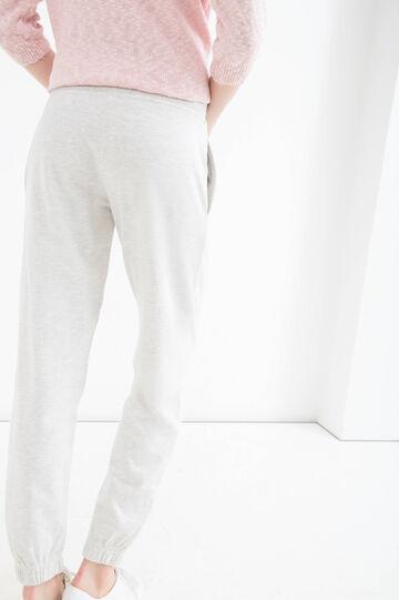 Cotton blend joggers, Natural, hi-res