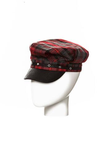 Cappello tartan con borchie, Grey/Red, hi-res