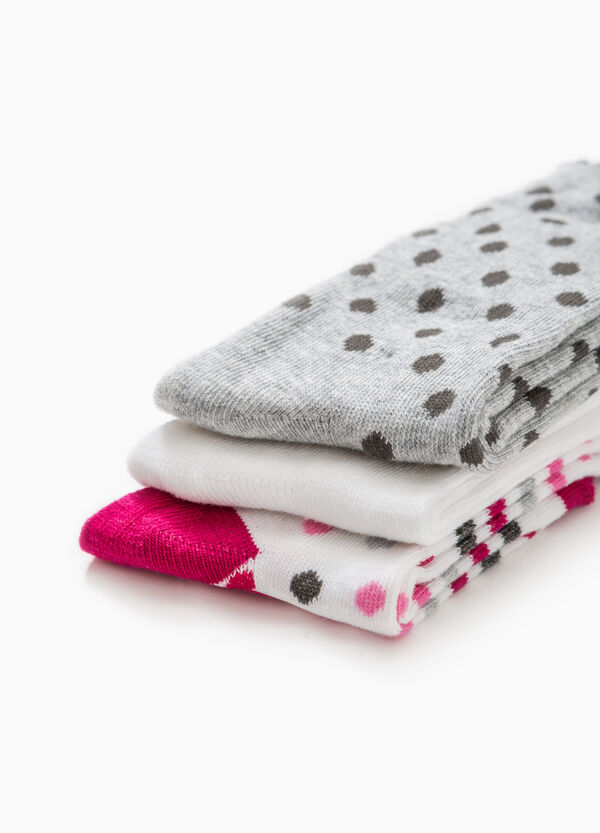 Pack de tres pares de calcetines largos con fantasía | OVS
