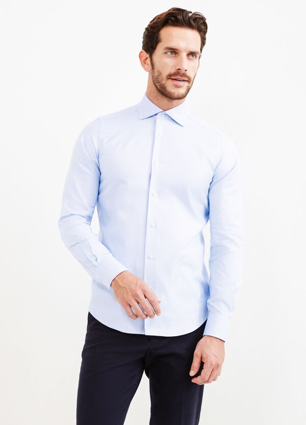 Slim-fit casual shirt with cut-away collar | OVS