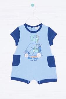 Tutina pigiama stampa dinosauro, Blu/Azzurro, hi-res
