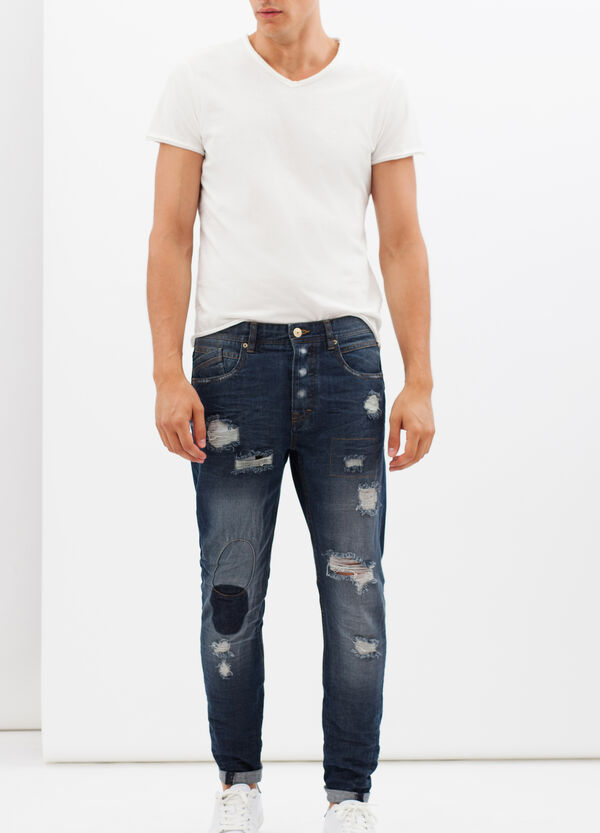 Slim fit ripped jeans | OVS