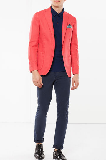 Rumford jacket with pocket square, Strawberry Red, hi-res