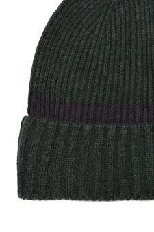 Ribbed beanie cap, Green, hi-res