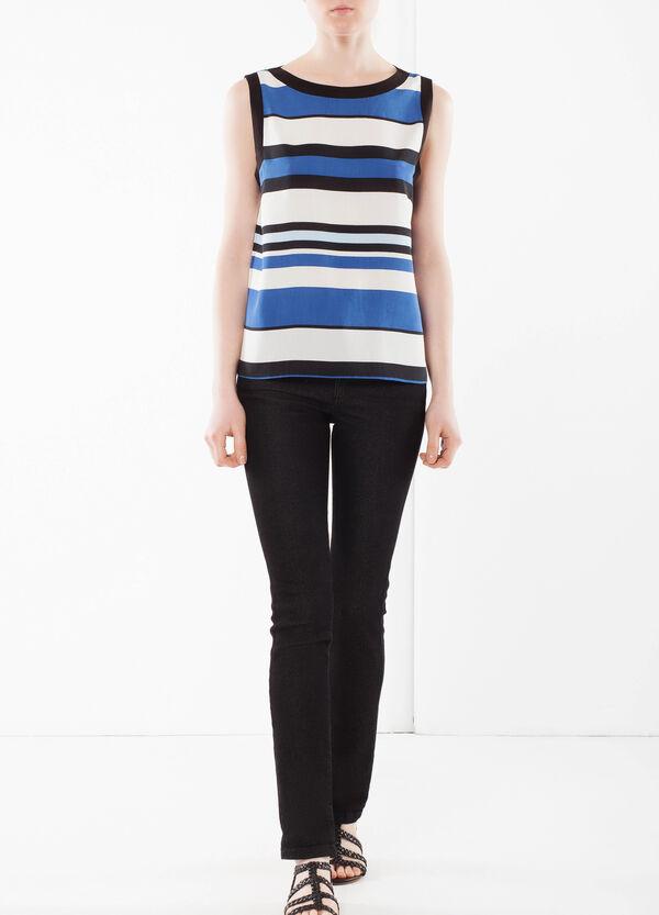 Striped sleeveless blouse | OVS