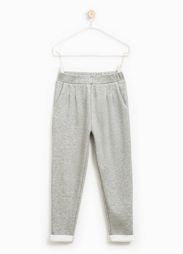 Pantaloni tuta con risvolto in pelliccetta | OVS