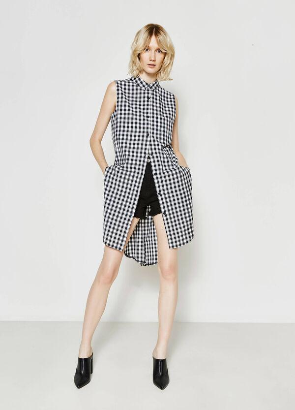 Sleeveless shirt dress with pattern | OVS