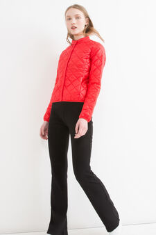 Ultra-light quilted down jacket, Red, hi-res