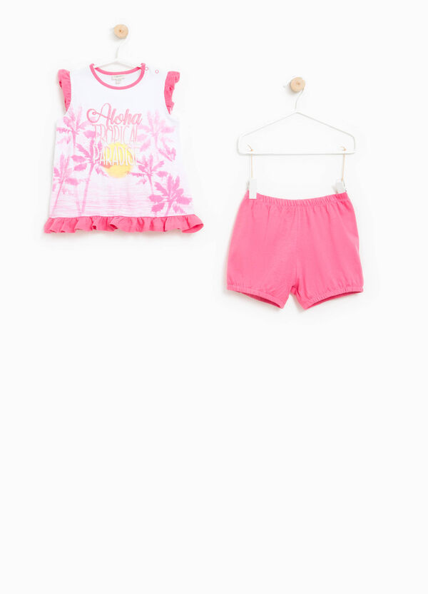 Top and shorts pyjama set in 100% Biocotton | OVS