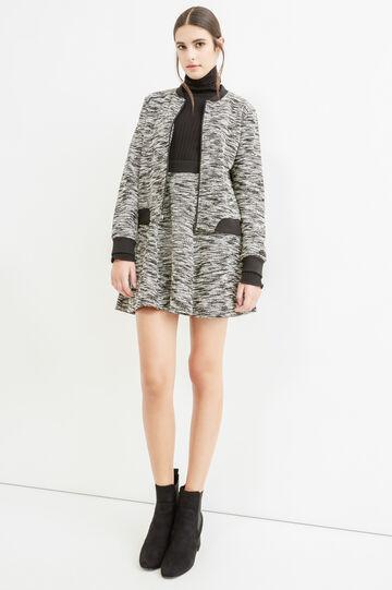 Mélange cotton blend sweatshirt., Black/White, hi-res