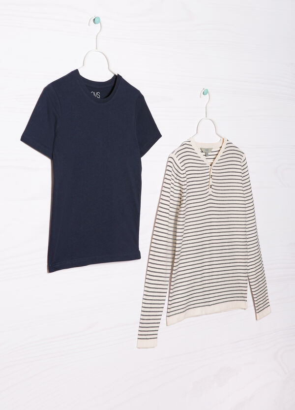 Completo due t-shirt cotone | OVS