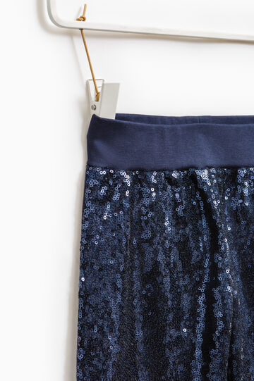 Pantaloni tuta paillettes sulle gambe, Blu navy, hi-res