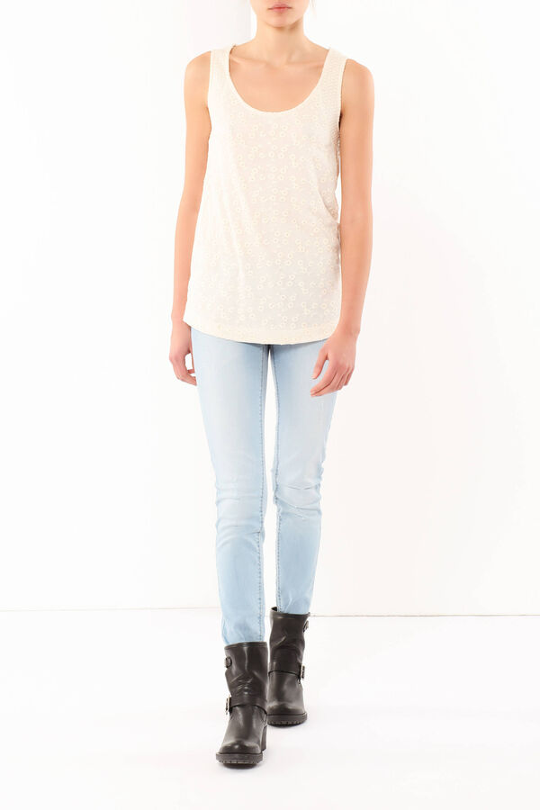 Embroidered tank top   OVS