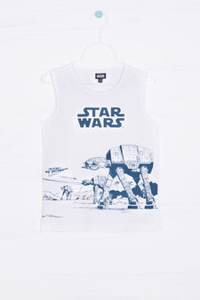 Star Wars printed cotton vest top, White, hi-res