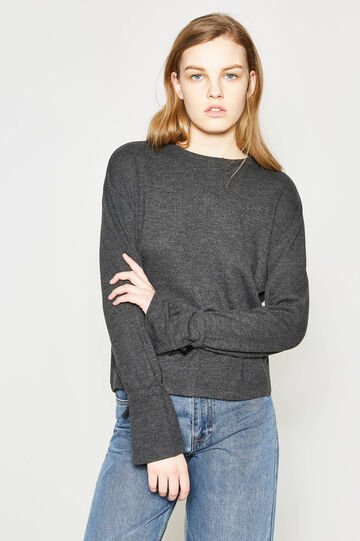 Pullover with laces on the cuffs