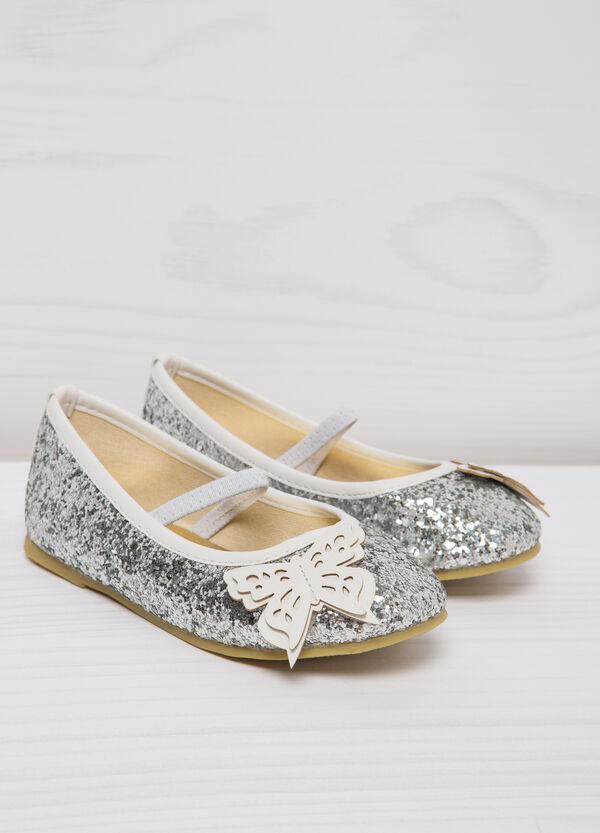 Round toe ballerina flats with glitter | OVS