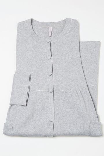 Curvy 100% cotton robe, Grey Marl, hi-res
