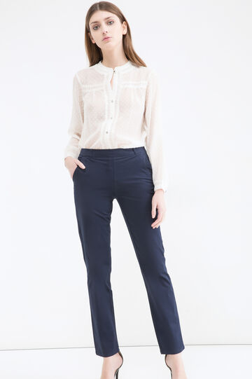 Pantaloni cotone stretch